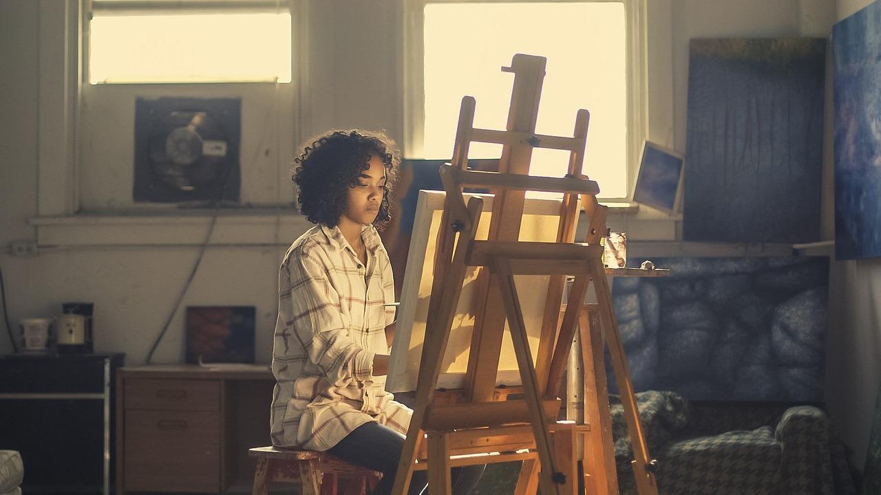 obraz, sztaluga, namaluj obraz